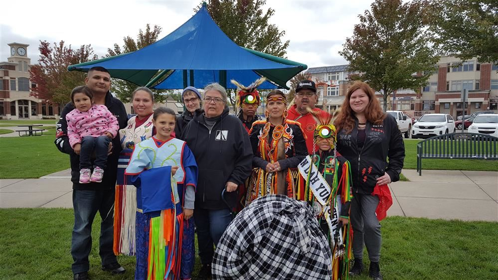 Indian family group at Lake Fest Pow Wow