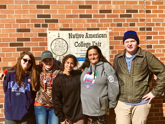 High School group at Native American College Fair