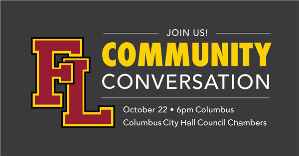 Community Conversation October 22 at 6 p.m. at Columbus Community Center