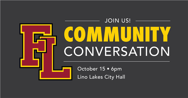 Community Conversation October 15 at 6:00 p.m.