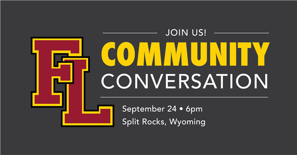 Community Conversation event September 24 at 6:00 p.m. at Split Rocks in Wyoming