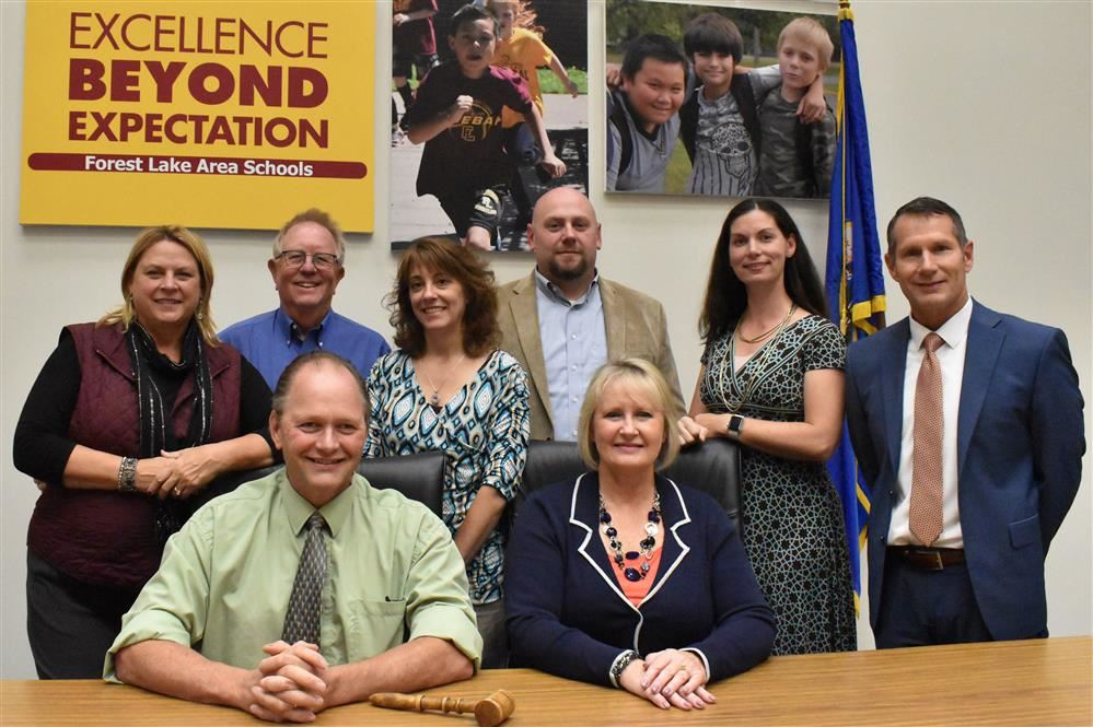 School board members group photo