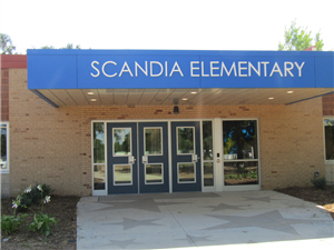 front of school Scandia Elem.