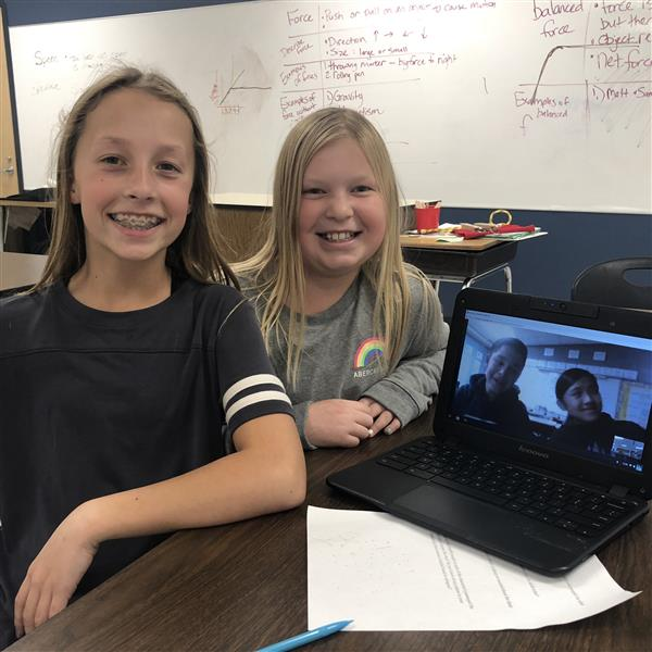 Columbus students video chat to discuss book with students from Seattle