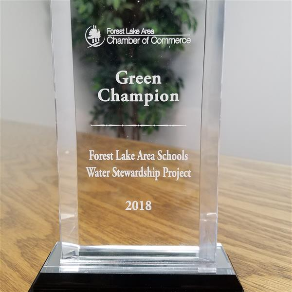 District receives Green Champion Award