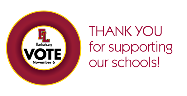 Thank you for supporting our schools