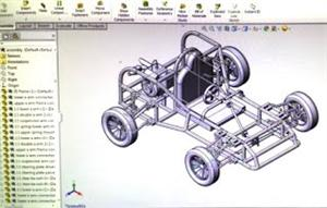 computer drafted car