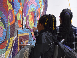 Mural celebrates middle school's inaugural year
