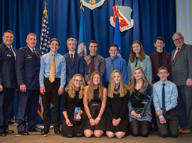 Students honored by Gov. Walz/Honoring our Military