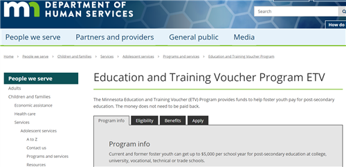 MN Education and Training Voucher